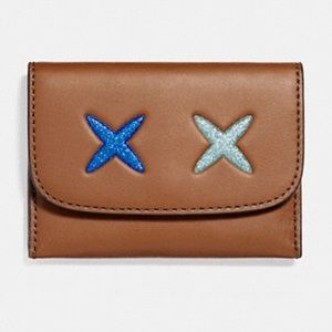 Coach Card Pouch With Glitter Cheeky F22957